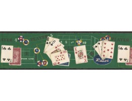Prepasted Wallpaper Borders - Raise Poker Wall Paper Border