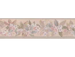 Prepasted Wallpaper Borders - White Little Flowers Wall Paper Border