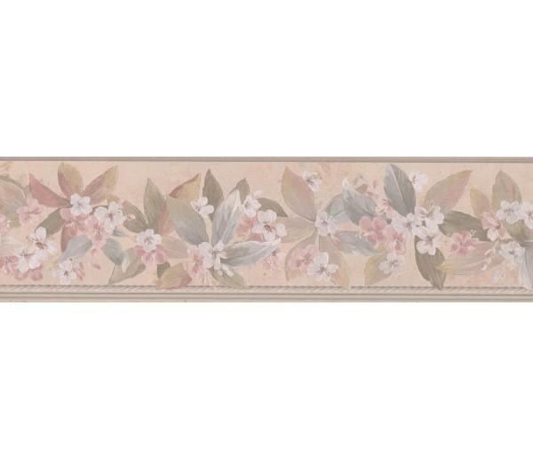 Floral Wallpaper Borders: White Little Flowers Wallpaper Border