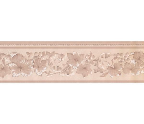 Floral Wallpaper Borders: Floral Beige Wallpaper Border 92234