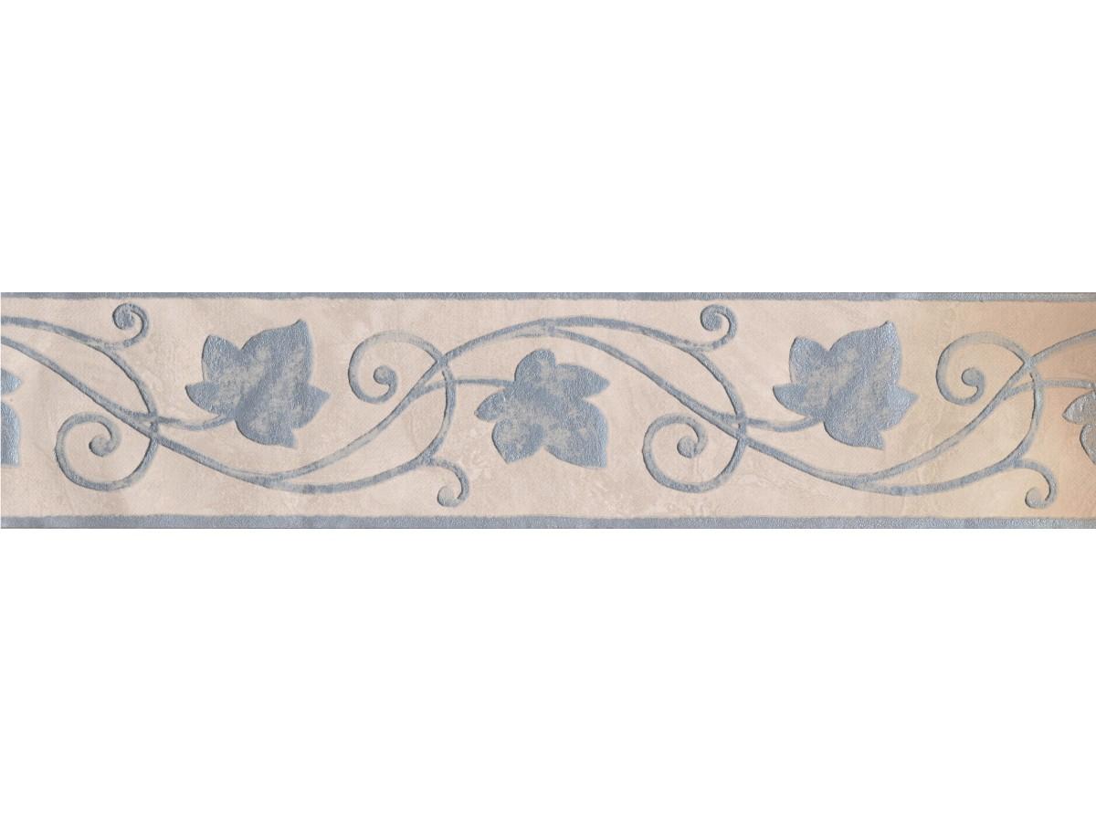 Silver Beige Vine Wallpaper Border