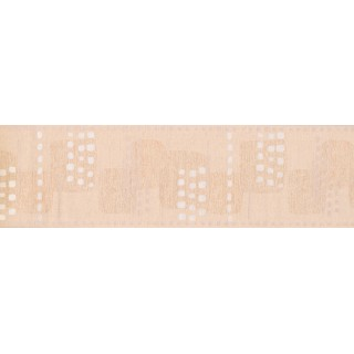 7 in x 15 ft Prepasted Wallpaper Borders - Cream Modern Emost Squares Wall Paper Border
