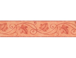 Prepasted Wallpaper Borders - Pink Palm Leaf Wall Paper Border