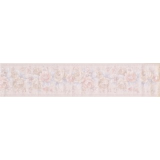 5 in x 15 ft Prepasted Wallpaper Borders - White Roses Bunch Wall Paper Border