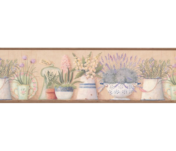 Garden Wallpaper Borders: Kitchen Flowers Wallpaper Border 08013AAI