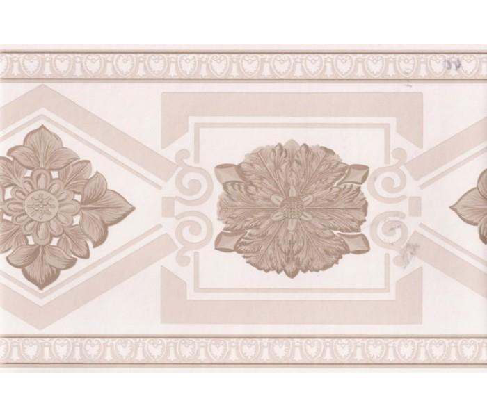 Vintage Wallpaper Borders: Cream Gold Elegant Molding Wallpaper Border