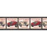 Cars Wallpaper Borders: Black Framed Vintage Cars Wallpaper Border