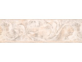 Prepasted Wallpaper Borders - Beige Acanthus Scroll Wall Paper Border