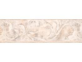 Beige Acanthus Scroll Wallpaper Border