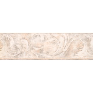 6 3/4 in x 15 ft Prepasted Wallpaper Borders - Beige Acanthus Scroll Wall Paper Border