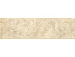 Prepasted Wallpaper Borders - Moss Acanthus Scroll Wall Paper Border