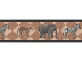 Black Safari Wallpaper Border