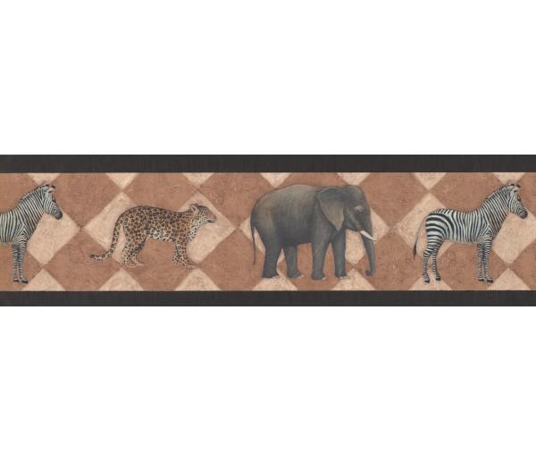 Jungle Wallpaper Borders: Black Safari Wallpaper Border