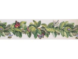 5 in x 15 ft Prepasted Wallpaper Borders - Garden Wall Paper Border BH1853