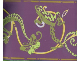 Prepasted Wallpaper Borders - Frog Shaded Design Wall Paper Border