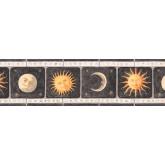 Sun Moon Stars Borders Black Background Sun Moon Wallpaper Border York Wallcoverings