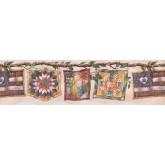Laundry Wallpaper Borders: Light Beige Laundry Wallpaper Border