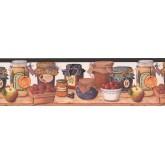 Garden Borders Fruits Jars Wallpaper Border 007192BP York Wallcoverings