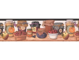 Fruits Jars Wallpaper Border 007192BP