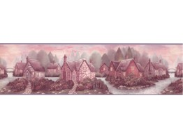 River Smoked House Wallpaper Border