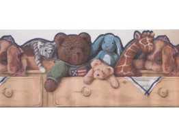Toys Bear Giraffe Wallpaper Border