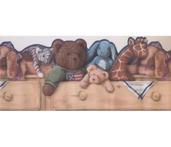 Toys Wallpaper Borders: Toys Bear Giraffe Wallpaper Border
