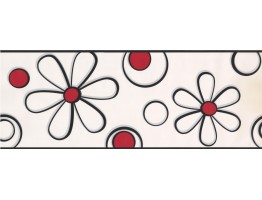 Prepasted Wallpaper Borders - Floral Wall Paper Border BT2703