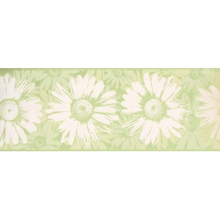 9 in x 15 ft Prepasted Wallpaper Borders - Sunflower Wall Paper Border BT2729