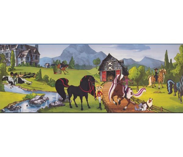 Clearance: Horses Wallpaper Border BT2741