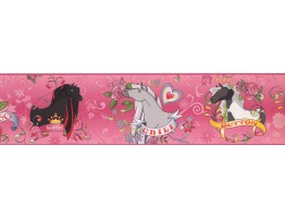 Prepasted Wallpaper Borders - Horses Wall Paper Border BT2746
