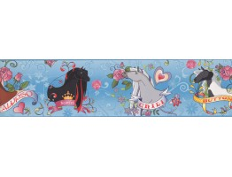 6 in x 15 ft Prepasted Wallpaper Borders - Horses Wall Paper Border BT2747