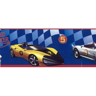 6 in x 15 ft Prepasted Wallpaper Borders - Cars Wall Paper Border BT2791