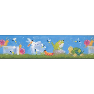 6 in x 15 ft Prepasted Wallpaper Borders - Animals Wall Paper Border BT2931