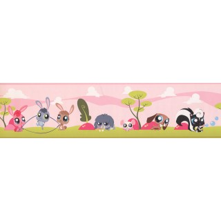 6 in x 15 ft Prepasted Wallpaper Borders - Kids Wall Paper Border BT2969