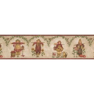 7 in x 15 ft Prepasted Wallpaper Borders - Watch Dolls Pumpkin Wall Paper Border