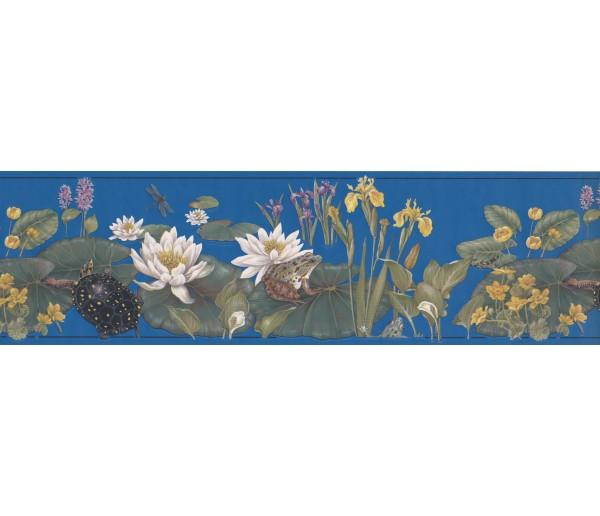 Garden Wallpaper Borders: White Lotus Wallpaper Border