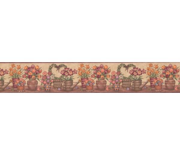 Floral Wallpaper Borders: Floral Wallpaper Border BV006152