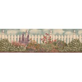 Garden Borders 006232 BV Floral Wallpaper Border York Wallcoverings