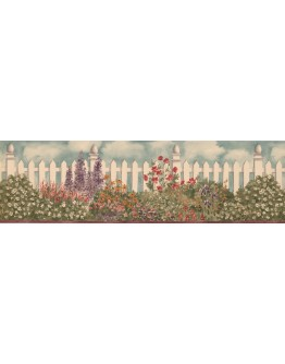Prepasted Wallpaper Borders - 006232 BV Floral Wall Paper Border