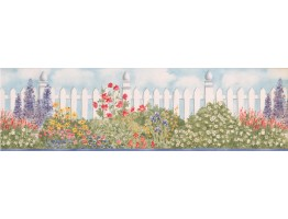 Prepasted Wallpaper Borders - Garden Wall Paper Border BV006233