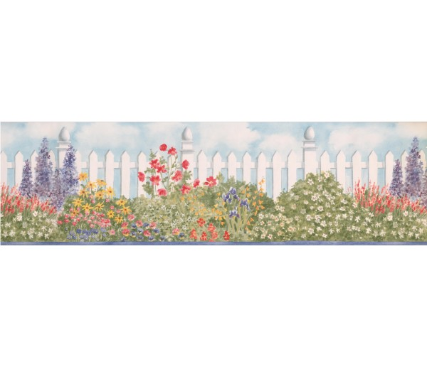 Garden Wallpaper Borders: Garden Wallpaper Border BV006233