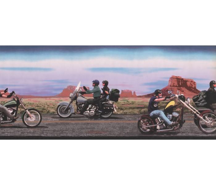 Outdoors Wallpaper Borders: Black Rider Wallpaper Border