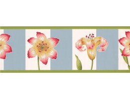 Pink Petal Flower Wallpaper Border
