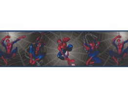 Black Spiderman Kids Wallpaper Border