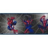 Marvel Black Spiderman Kids Wallpaper Border York Wallcoverings