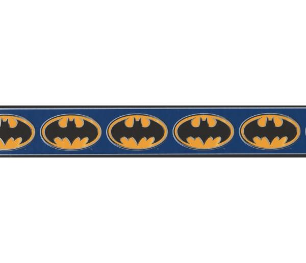 Marvel Kids Wallpaper Border - Batman Logo Wall Border BZ9230 York Wallcoverings