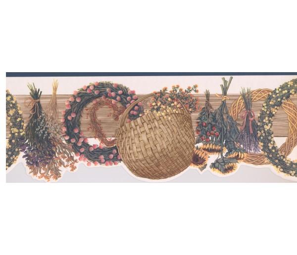 Garden Borders 89232 CBO Floral Wallpaper Border York Wallcoverings