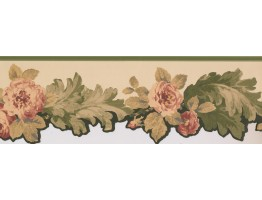 Die Cut Victorian Roses Wallpaper Border