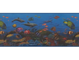 10 in x 15 ft Prepasted Wallpaper Borders - 10143 CK Sea World Wall Paper Border
