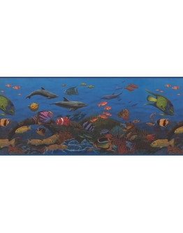 Prepasted Wallpaper Borders - 10143 CK Sea World Wall Paper Border